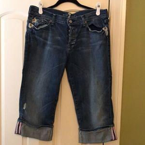 7 For All Mankind Cropped Jeans EUC